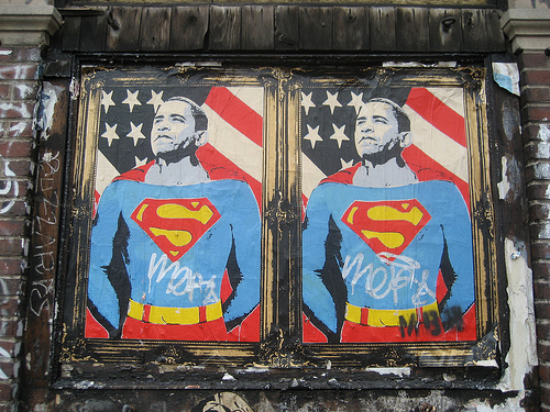 Poster by Mr. Brainwash. Photo by Discover NYC Campaign