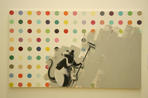 Painting by Banksy (and Hirst). Photo by Sabeth718