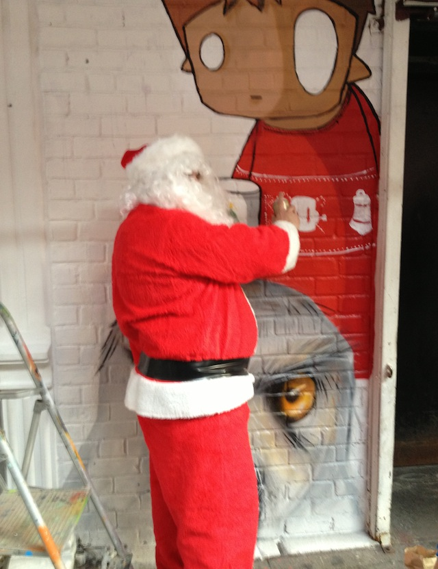 Even Santa stopped by to help out