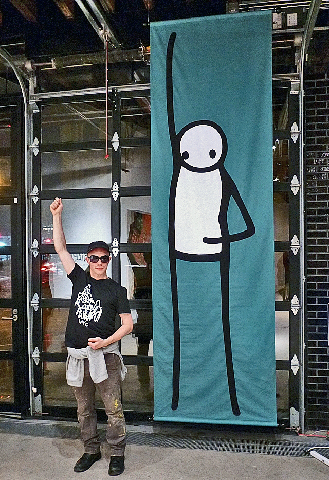 Stik in &quot;AgitPOP&quot; in Chelsea, Manhattan
