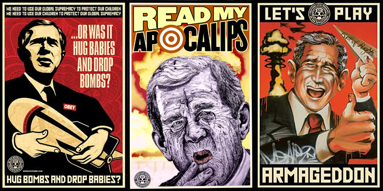 Shepard Fairey, Robbie Conal and Meer