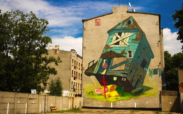 """Traphouse"" Urban Forms Gallery, Lodz, Poland 2012"