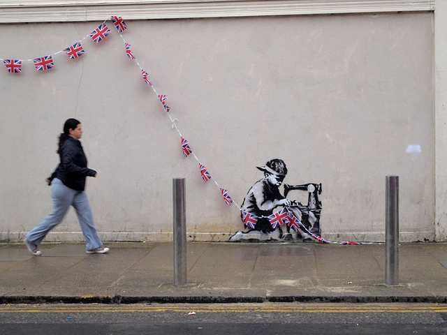 The piece in question. Photo courtesy of Banksy.