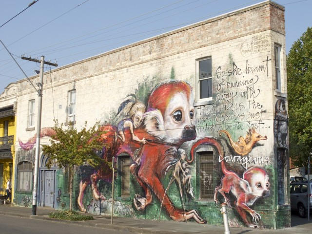 Herakut in Fitzroy - Photo by Dean Sunshine