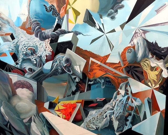 Oliver Vernon, Renegade Trajectories, acrylic on canvas