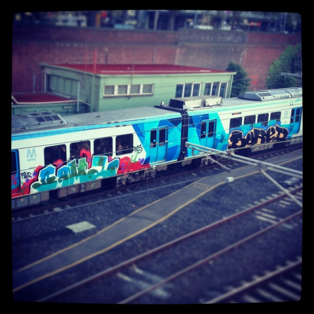 Melbourne Train Graff - Photo by lukey006 on instagram