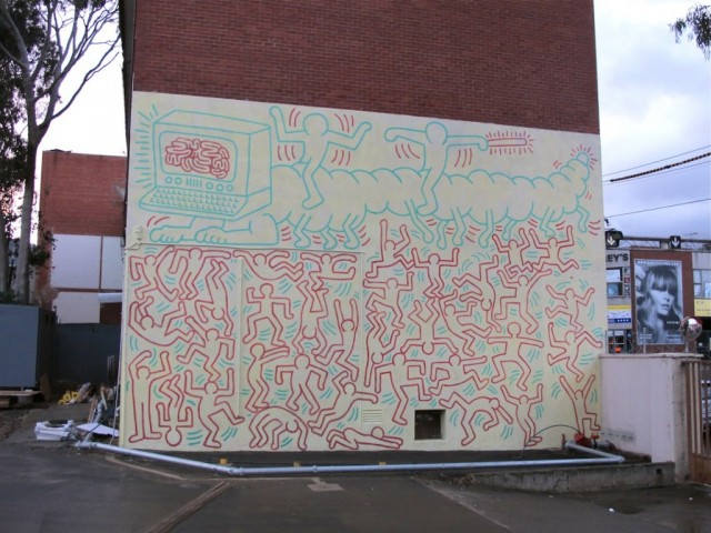Keith Haring Mural (restored) - Photo by Dean Sunshine