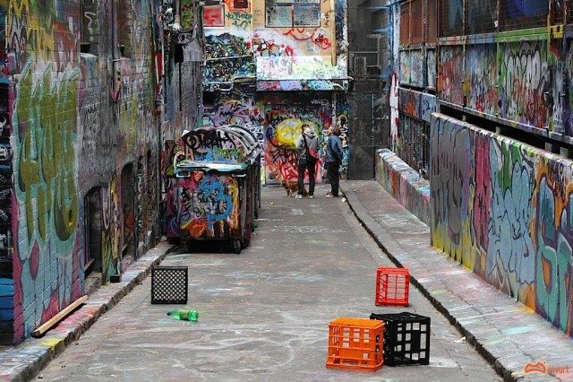 The Lane just before it was painted - Photo by David Russell
