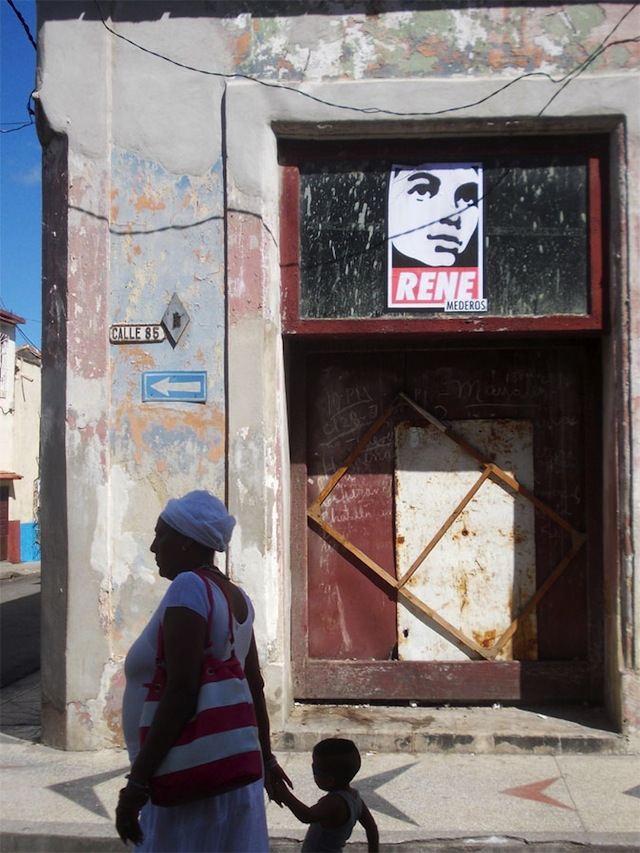 Poster Boy and Bamn in Cuba. Photo by Poster Boy.