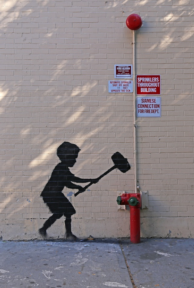 Banksy on the Upper West Side. Photo by carnagenyc.