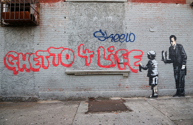 Banksy in the South Bronx. Photo by carnagenyc.