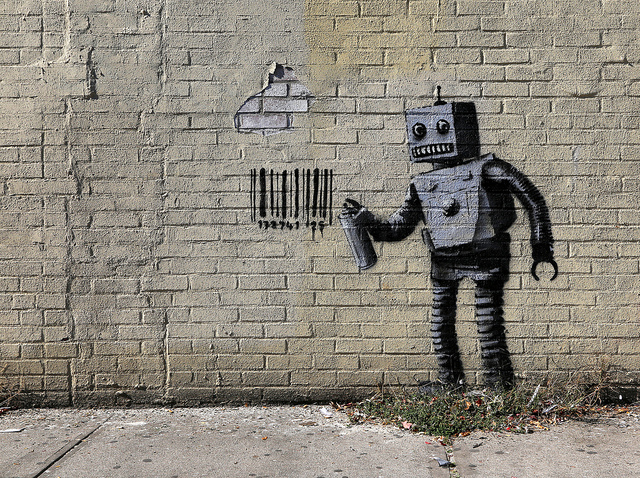 Banksy at Coney Island. Photo by carnagenyc.