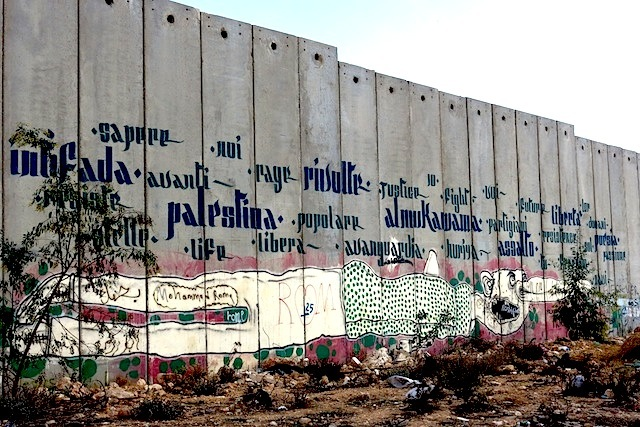 On the Israeli-Palestinian Separation Wall -- as seen inside Bethlehem