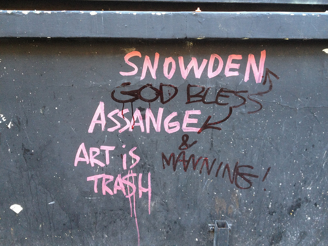 Art Is Trash and an unknown collaborator. Photo by barbnerdy.