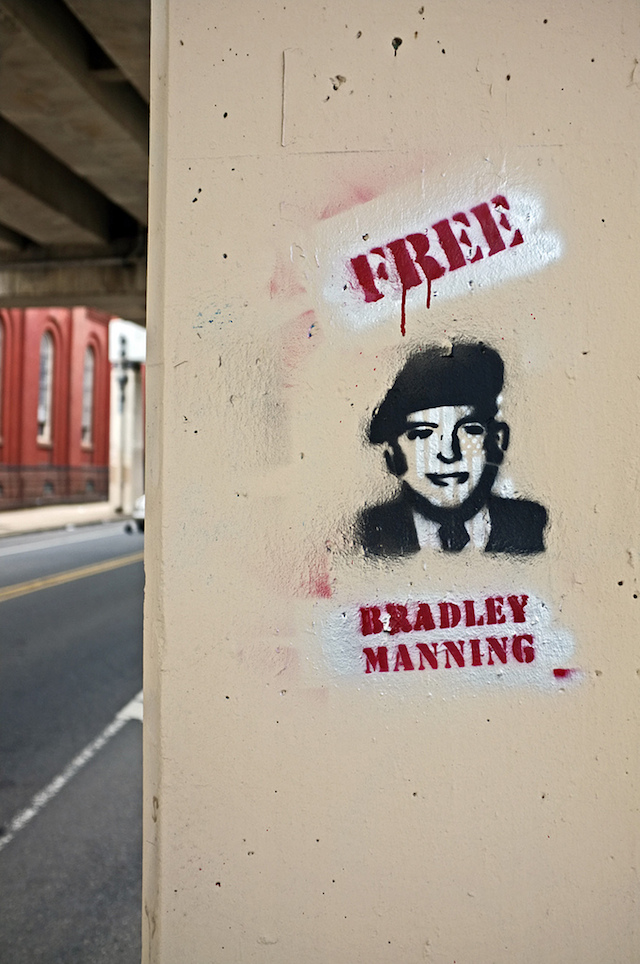 Chelsea Manning stencil in Philadelphia by unknown artist. Photo by Damon Landry.
