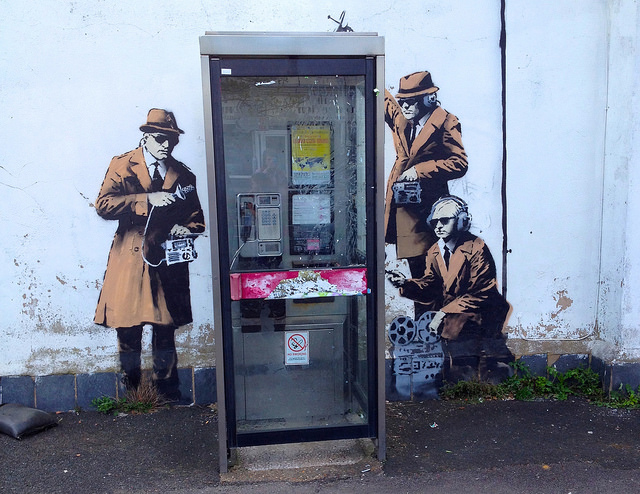 Possible Banksy in Cheltenham, England. Photo by Kathryn.