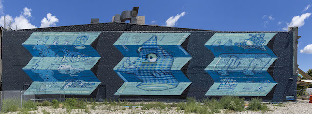 """Blue Prints"" by BMD in Christchurch, New Zealand. Photo courtesy of BMD."