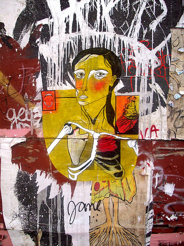 Wheatpaste and photo by Cake