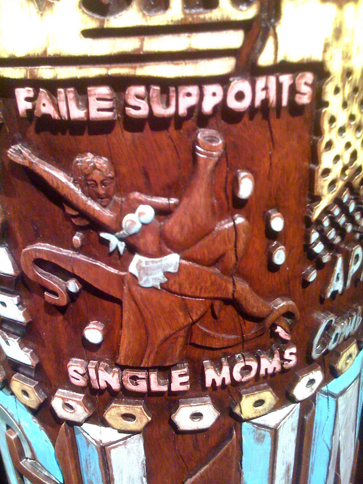 Faile Supports Single Moms, portion of a prayer wheel. Photo by RJ