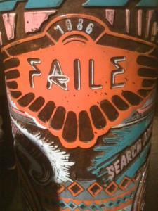 FAILE, on a prayer wheel. Photo by RJ