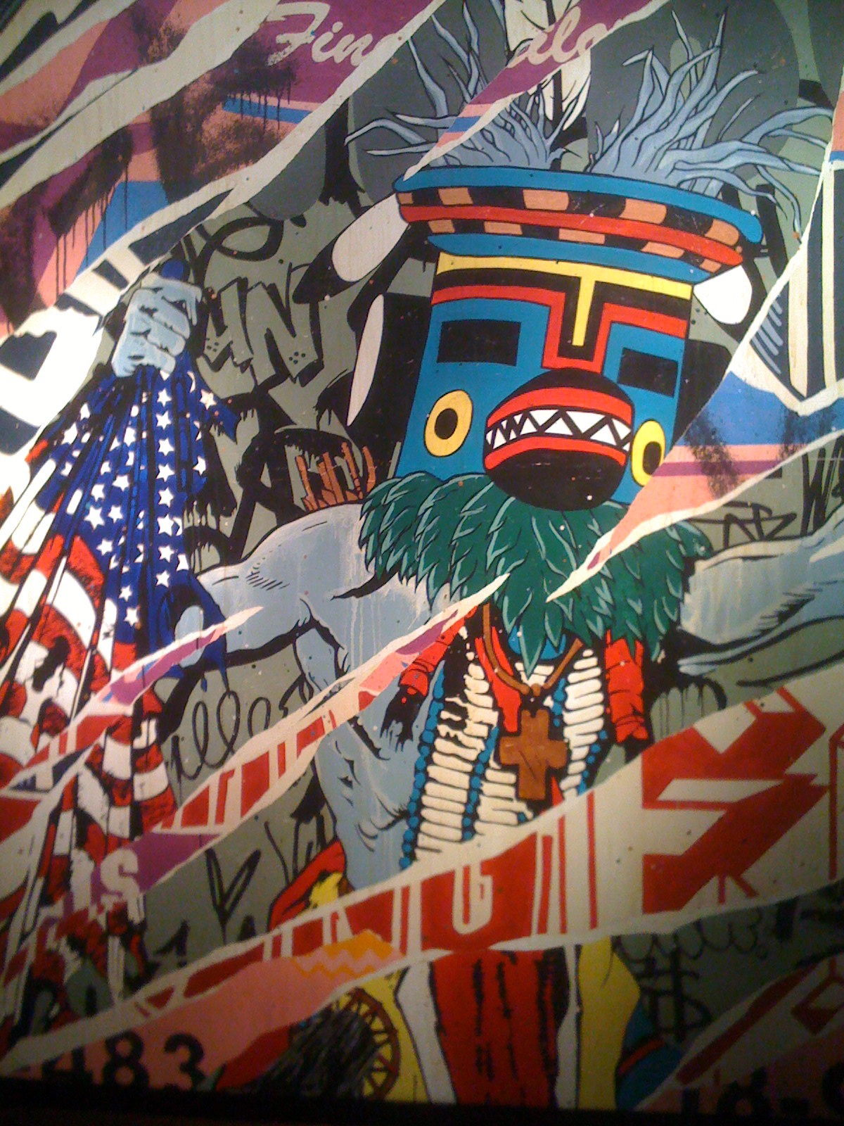Faile canvas. Photo by RJ