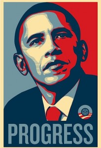 Shepard Fairey Obama Progress