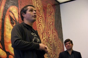 Shepard Fairey at the ICA Boston. Photo by christianrholland