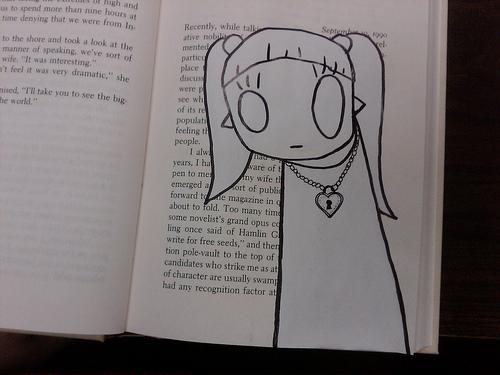 Chris in a book