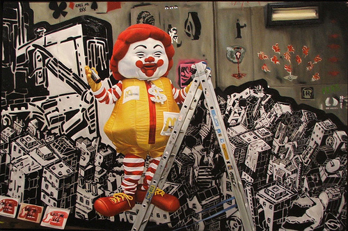 McSupersize at Cans Festival by Ron English