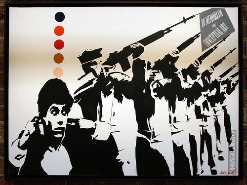 Painting by Blek le Rat. Photo by WallKandy