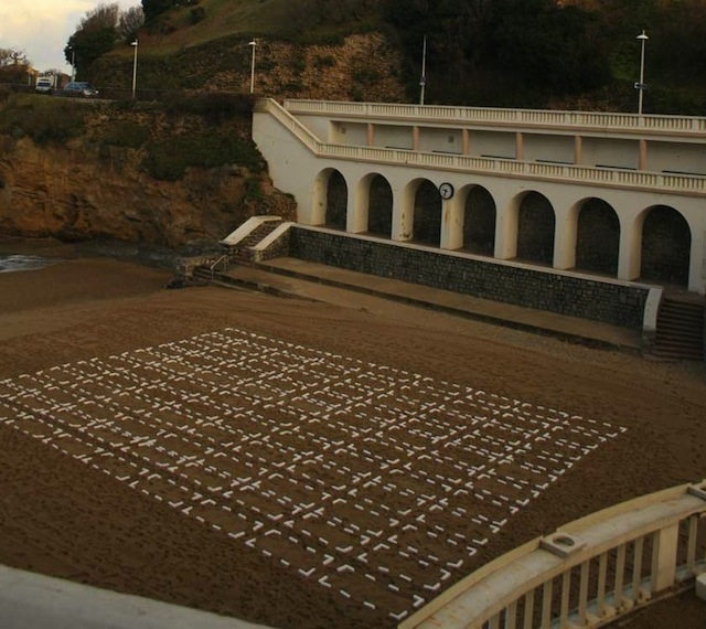 The Wa just made this piece on a beach in Biarritz, France. It's called Parking and kind of requires some human interaction…