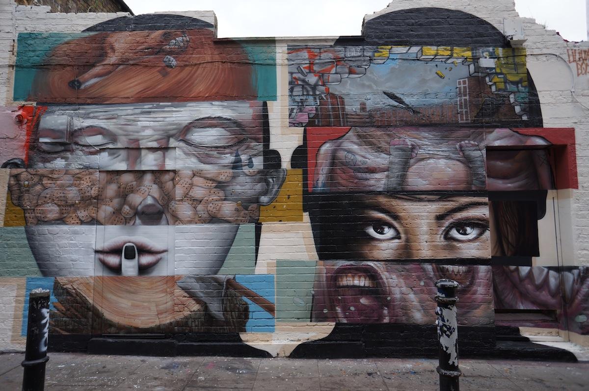 Brick Lane Paint Bucket On Head Wall Art Sculpture