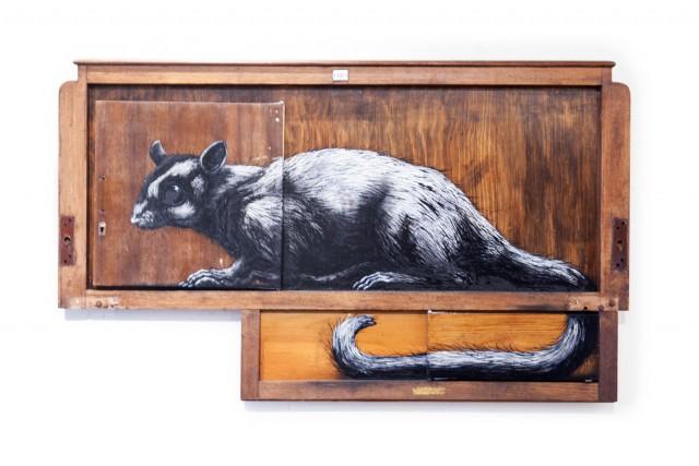 """Petaurus Breviceps"" SUGAR GLIDER (closed doors)"