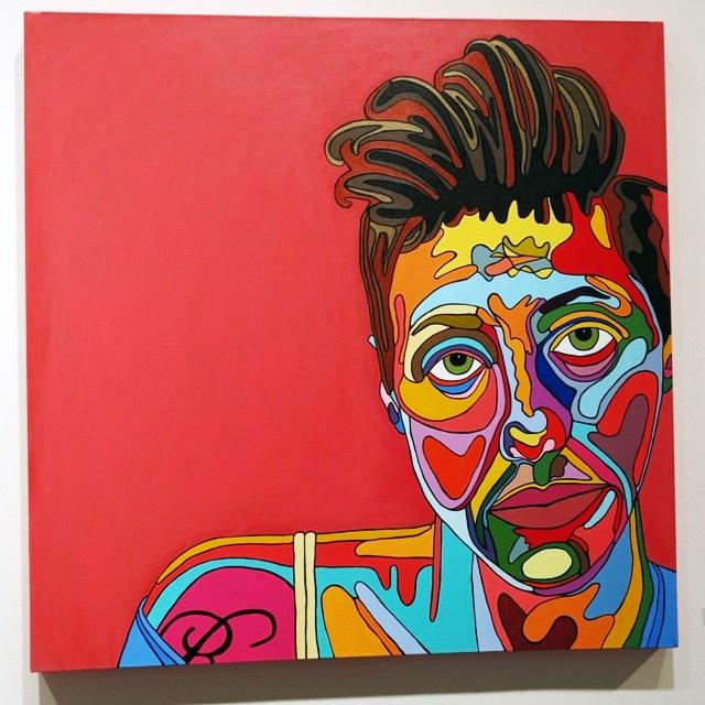 Tony Depew, Rebecca Weinberg, Acrylic on Canvas