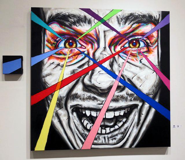 Quelbeast, The Alcoholic (Selfish Portrait Series), Acrylic on Canvas