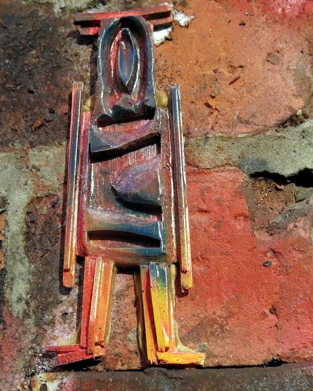 wooden stikman in chelsea