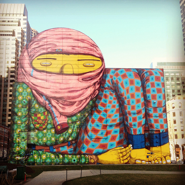 """The Giant"" by Os Gêmeos. Photo by RJ Rushmore."
