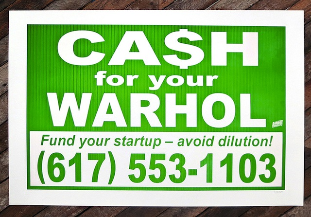 Cash for your Warhol