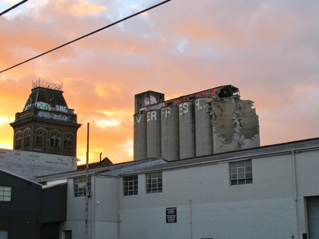 Silos come down (EVERFRESH 04) - Photo by Dean Sunshine