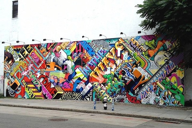 Pose and Revok on the famed Bowery and Houston wall