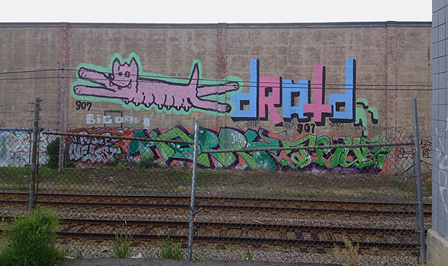 Droid 907 and Wolftits in Boston. Photo by Danika2