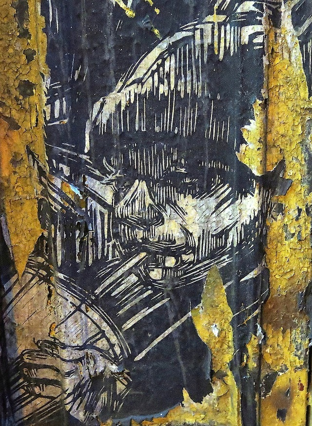 Swoon, close-up, in Bed-Stuy, Brooklyn