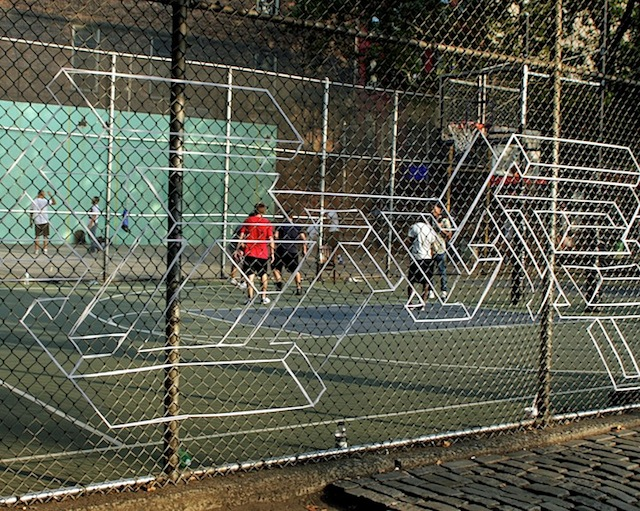 On the West 4th Street basketball court