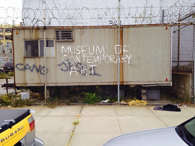 Unknown artist in New York City. Photo by Hrag Vartanian.