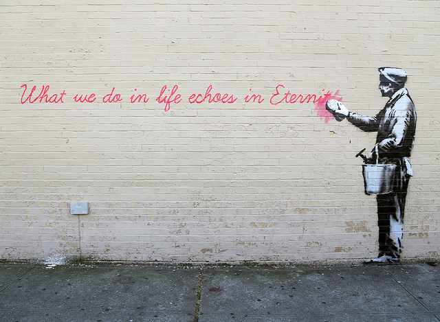 Banksy in Queens. Photo by carnagenyc.