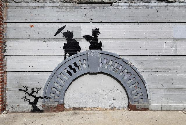 Banksy in Brooklyn. Photo by carnagenyc.