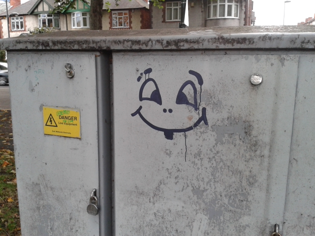 Unknown artist in Nottingham. Photo by KylaBorg.