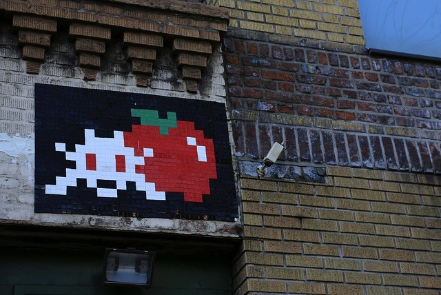 Invader in NYC. Photo by Luna Park.