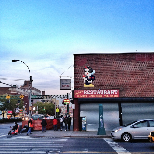 Invader in New York City. Photo by Hanksy.