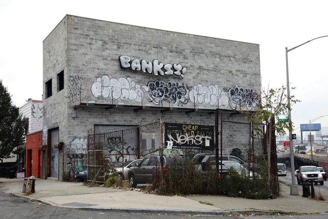 Banksy in Queens. Photo from banksyny.com.